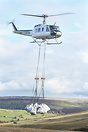 Heli-lift-Services seen here lifting bags of Heather to replant and ge...