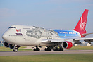'The Falcon' - this Virgin Atlantic Boeing 747-400 has been painted in...