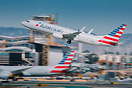 American Airlines Flight AA1384 blasting out of LAX past the newly con...