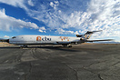Former FedEx cargo plane which was donated to California Baptist Unive...