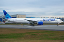 United Airlines Latest 777 in the latest brand new livery