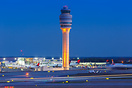 Atlanta Airport ATC Tower at twilight