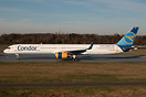 The first Condor 757-300 in ex Thomas Cook old c/s with new tail logo.