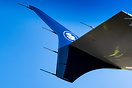 New paint scheme on the winglet which will be applied to all the airbu...