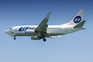 This Boeing 737 aircraft from UTAir suffered a main landing gear colla...