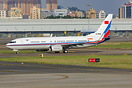 A China Air Force 737-800 is waiting for takeoff at runway 33 at Shenz...