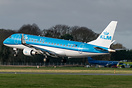 PH-EXS landing at Humberside Airport after a flight from Amsterdam Sch...