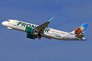 A320Neo tail featuring 'Scout' the Pine Marten