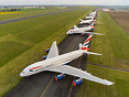British Airways fleet of Airbus A380s have arrived at Chateauroux, Fra...