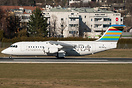 Seen here is SE-DSZ Avro RJ100 taking off at Innsbruck Airport on a su...