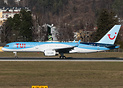 Seen here is a TUI 757-28A departing Innnsbruck.