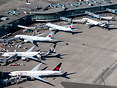 Parked Air Canada 777s in storage with Air New Zealand 777s operating ...