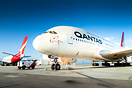 Qantas A380's parked at LAX due to COVID-19