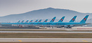 parked A380s and 747s in ICN due to the Corona virus crisis