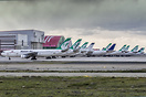 Line up of some of the grounded Mahan Air aircraft