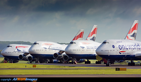 British Airways 747 Storage