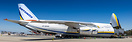 AN-124 Supplying California with medical supplies for COVID-19