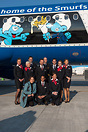 Crew members posing together with Christina Foerster (CEO of SN at tha...