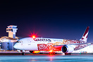 The only Qantas passenger flight leaving LAX to rescue stranded Austra...