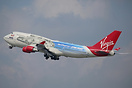 Virgin Atlantic Boeing 747-400 G-VLIP in special Star Wars Millenium F...