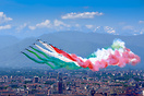 """Abbraccio tricolore"", tribute of the Italian Air Force to the victims..."