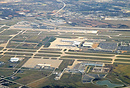 Aerial view of Indianapolis International Airport