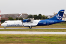 New Blue Islands livery. Departing RWY 26 for Guernsey just an hour af...