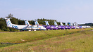 Part of the stored Flybe fleet