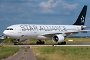 TAP Air Portugal A330 in its Star Alliance livery vacating runway 26