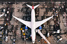 Shown here is a British Airways Boeing 787-9 being prepped for departu...