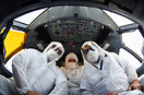 Using Hazmat Suit , Shield and Mask is mandatory for all crew flying t...