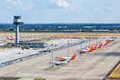 Stored EasyJet aircraft at Berlin Brandenburg airport due to Coronavir...