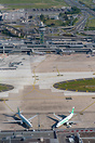 Part of Transavia France's fleet was also stored on remote stands on t...