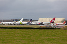 Overview of part of the stored airliners that have all arrived at St A...