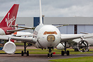Former SriLankan Airlines A330 seen at St Athan in process of being pa...