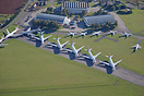 Various Boeing 747 aircraft retired and stored at Cotswold Airport.
