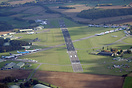 An aerial overview of Cotswold Airport.