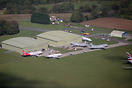 An aerial view of Cotswold Airport.