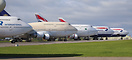 Boeing 747-400 aircraft stored at Cotswold Airport.