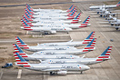 Stored American 777 and retired American A330s stored in Roswell, New ...