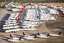 Stored fleets at Pinal Airpark waiting the call to come back to the sk...