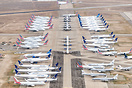 An assortment of stored and retired aircraft in Roswell, New Mexico. S...