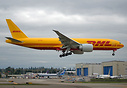 DHL's latest brand new 777 freighter operated by Kalitta Air