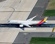 An Air to Ground Shot of an Asiana A350 touching down on JFK's Runway ...