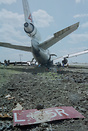 Aircraft left runway after landing.