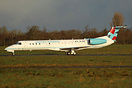 5N-BWZ is the second ERJ-145 for new operator United Nigeria. Seen rea...