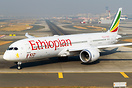 Ethiopian B787-9 featuring 100th aircraft sticker