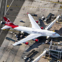 Virgin Atlantic's G-VROY sitting at the gate at JFK's Terminal 4. This...
