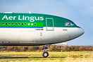 Aer Lingus Airbus A330 taxiing to the runway prior to a test flight, h...