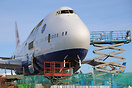 British Airways B747-400 G-CIVZ in the process of being scrapped at Ne...